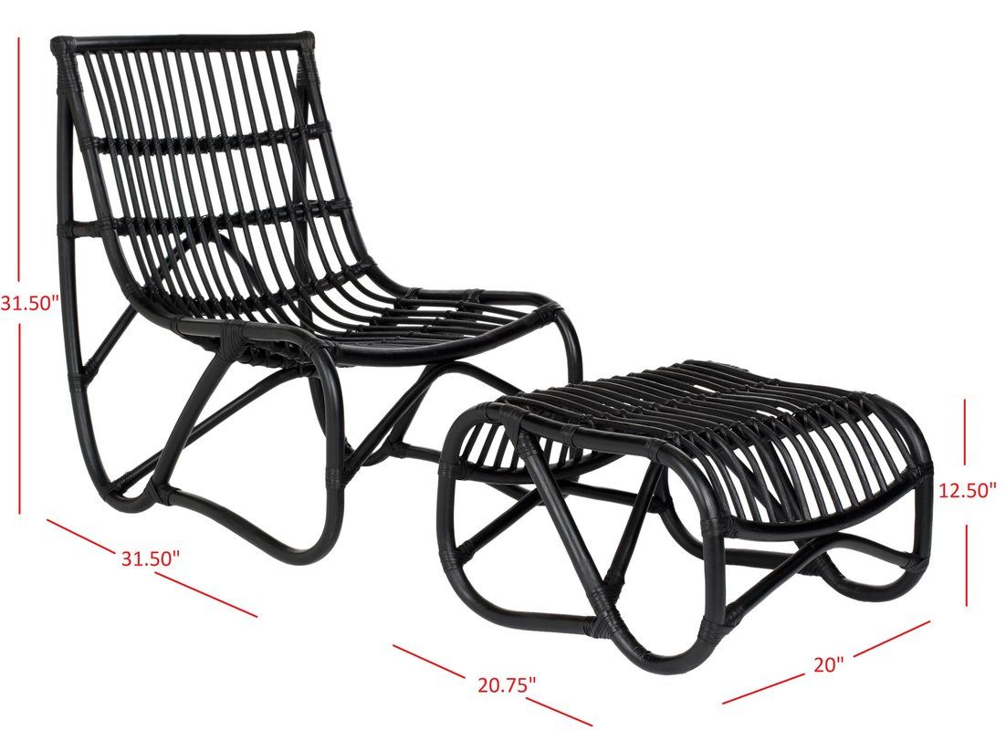Shannon Rattan Side Chair Chair And Ottoman Set Chair And Ottoman Rattan Chair