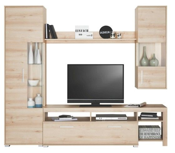 schicke wohnwand in buche nb kompakt und praktisch wohnzimmer pinterest tv m bel schick. Black Bedroom Furniture Sets. Home Design Ideas