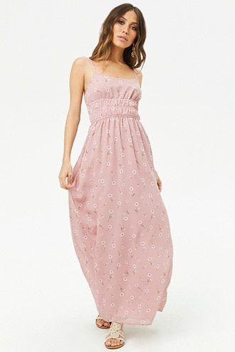 22c3817d96 Floral Print Scoop-Neck Maxi Dress