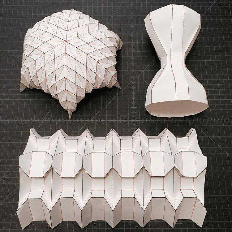 #making #samples for #teaching #origami #span #dome #box #