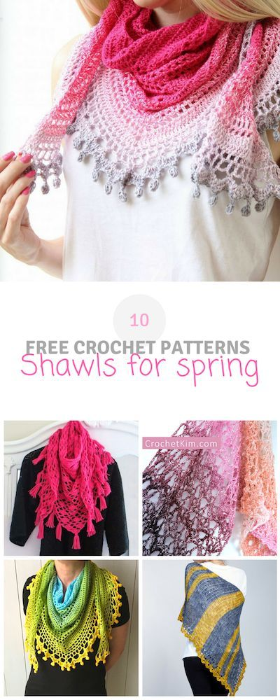 10 free crochet shawls for spring - free pattern roundup ...