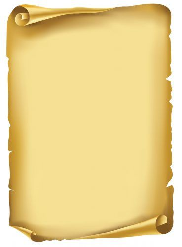 Blank scroll for invitations