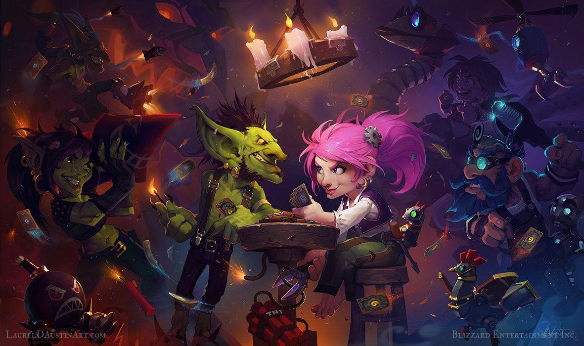 Hearthstone: Goblins VS Gnomes, Laurel D Austin on ArtStation at http://www.artstation.com/artwork/hearthstone-goblins-vs-gnomes