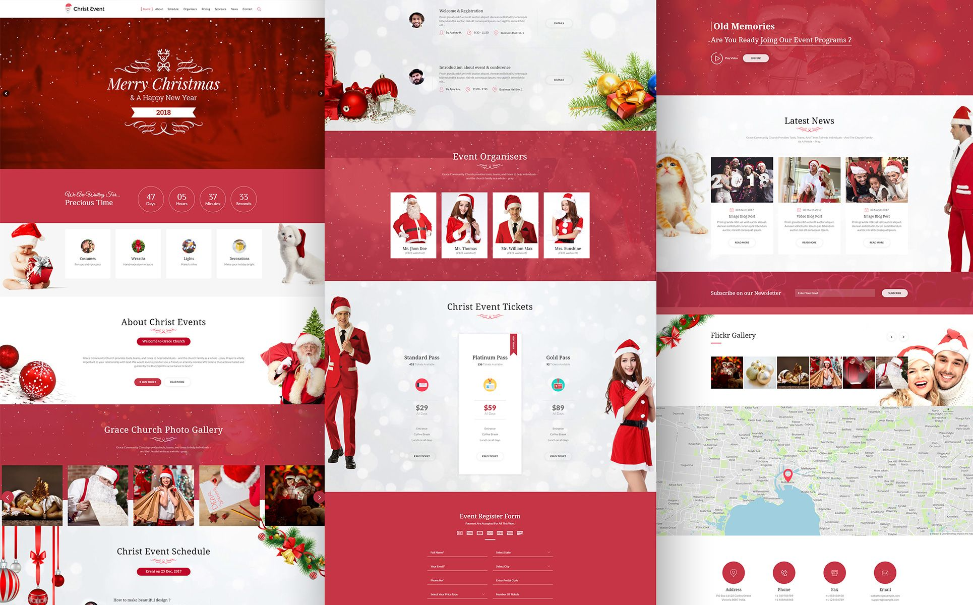 Christ Event Christmas Party Html Landing Page Template Christmas Party Event Schedule Event