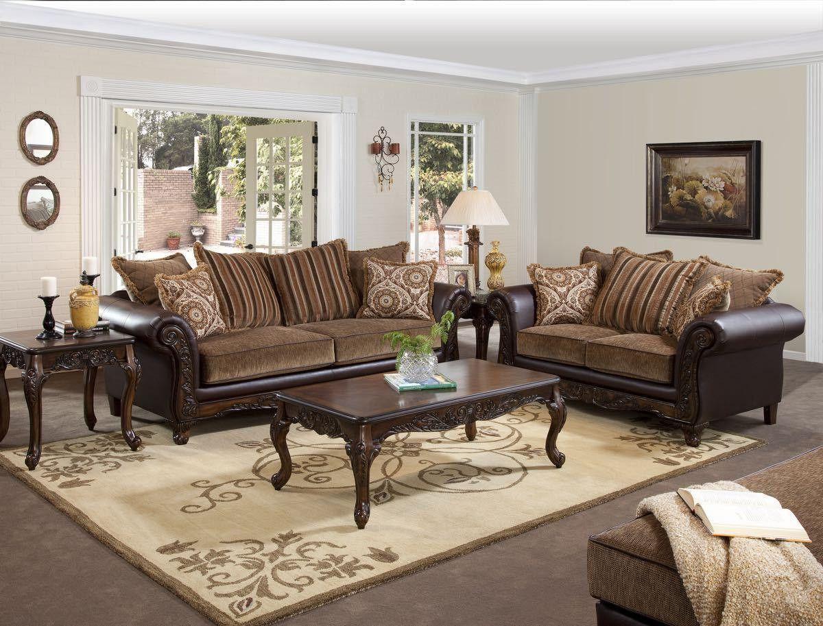 Havana Wood Front Sofa Loveseat Living Room Sets Furniture Living Room Sets Furniture #serta #living #room #set