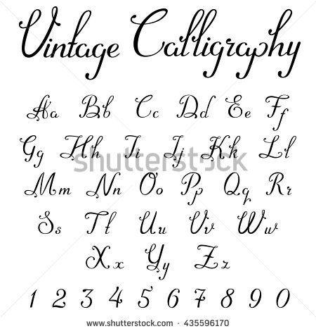 Afbeeldingsresultaat Voor Calligraphic Writing Capital And Non