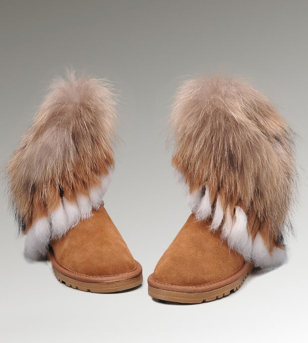 ugg short fox fur 8288 chestnut boots women ugg fox fur boots in rh pinterest com