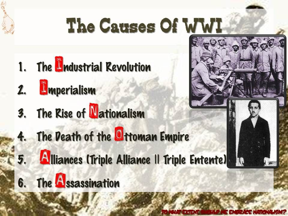 World war 1 essay topics