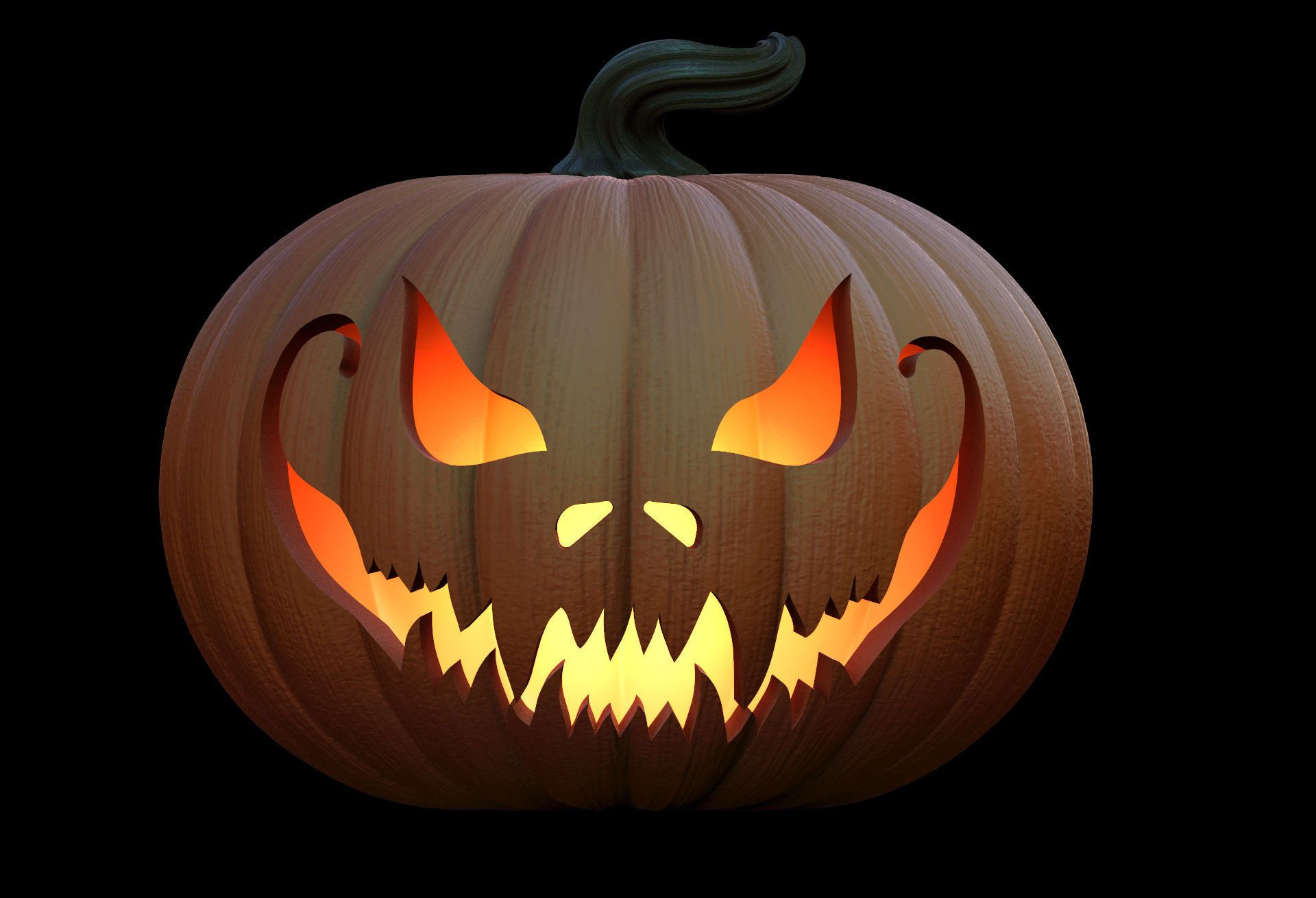 pumpkins for halloween 3d model obj stl 3 Тыква на
