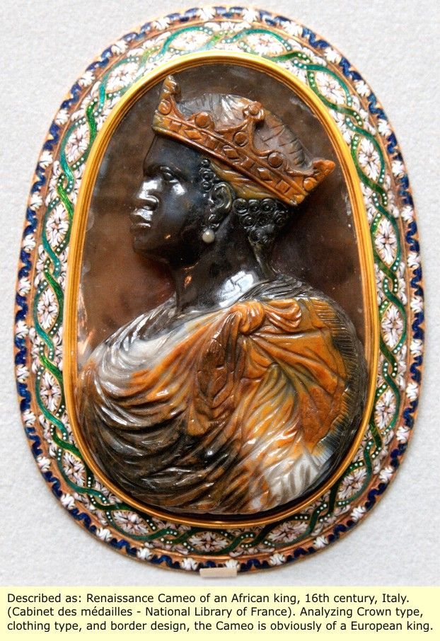 16th Century A D Italian Made Cameo Of A Moorish King