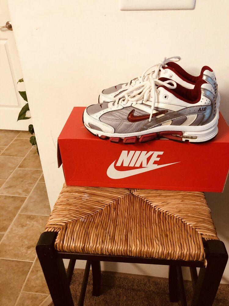 Nike Air Dual D Red/silver Women Running Phylon Shoes 8.5 | eBay