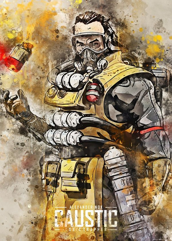 Apex Legends Watercolour Splatter Characters Displate Posters