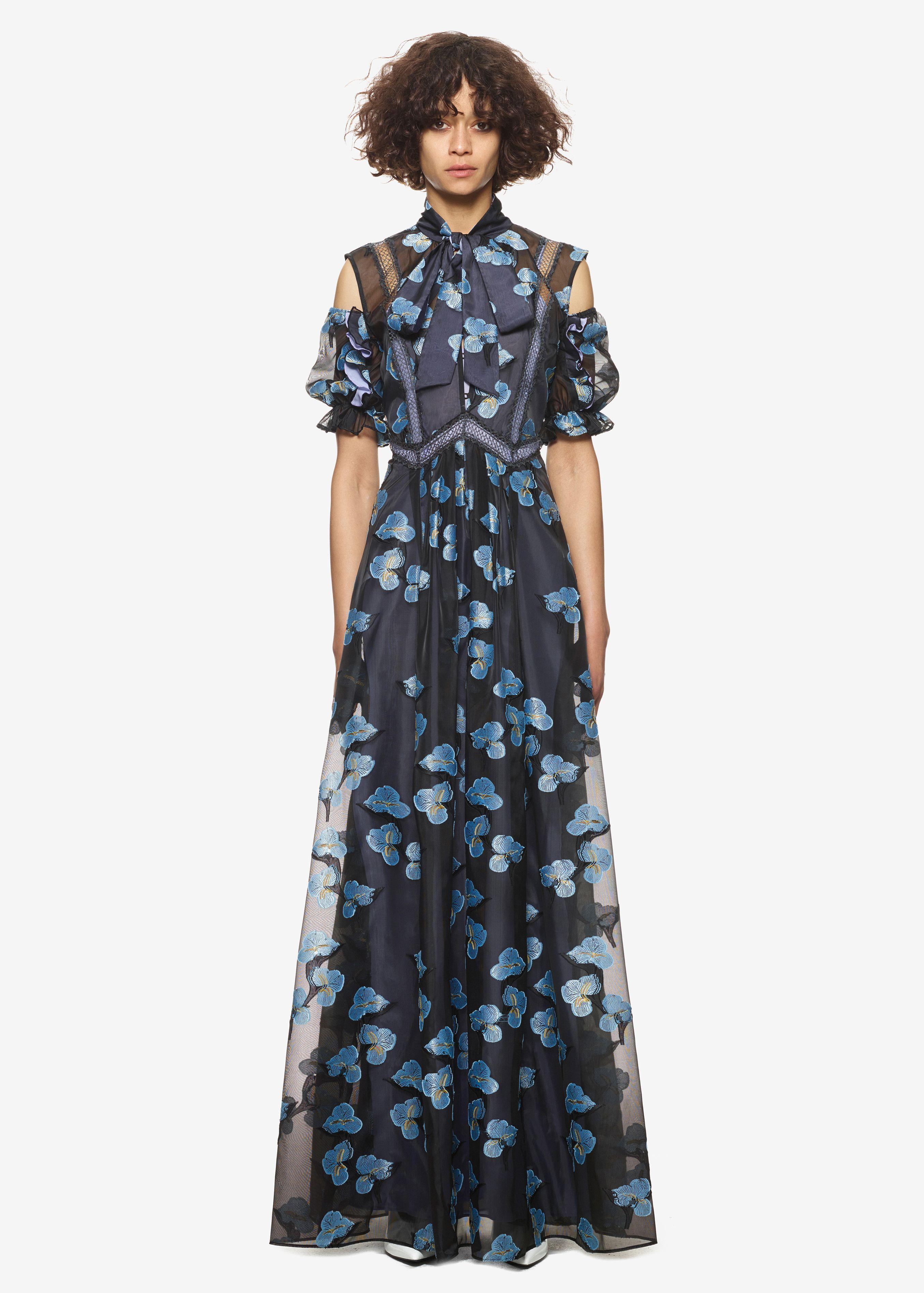 b7734dd501e10 Self Portrait Floral Fil Coupe Maxi Dress | • Current Wishlist ...