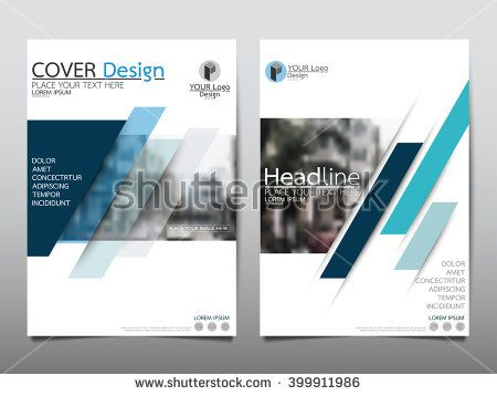 Blue Annual Report Brochure Flyer Design Template Vector Leaflet
