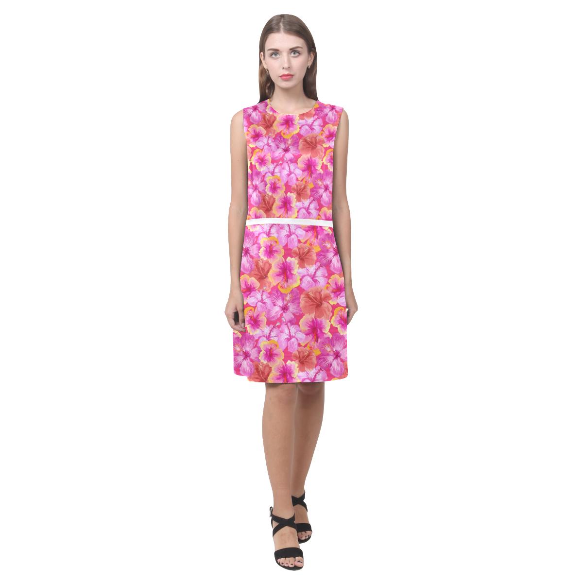 Hibiscus floral flowers flower cute pink pattern eos womens hibiscus floral flowers flower cute pink pattern eos womens sleeveless dress model izmirmasajfo