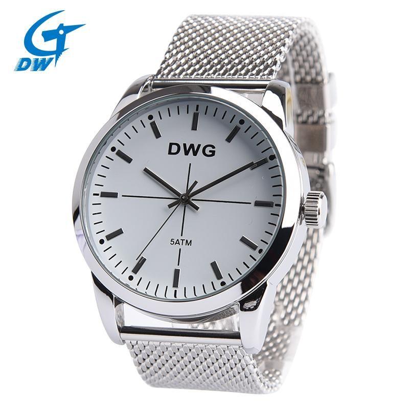 be646f16605 DWG Brand Quartz Watch Men Top Brand Luxury Wrist Watches Men Clock Men s  Steel Wristwatch Male