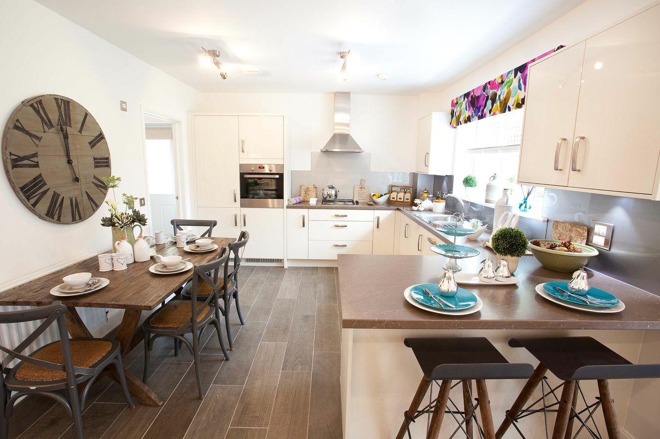 White Kitchen Wood Floor Wood Floor White Kitchen Miller Homes Kitchen Ideas