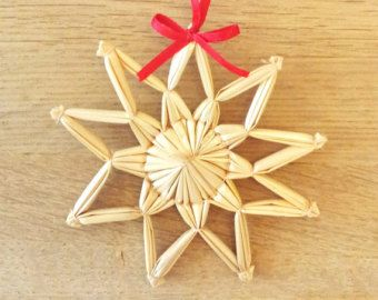 Handmade straw star