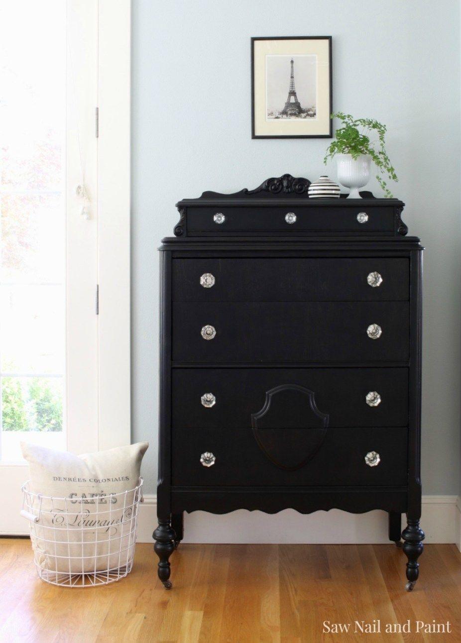 vintage dresser in lamp black guest quarters vintage dressers rh pinterest com