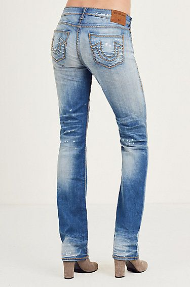 34a16f45455b5 BILLIE STRAIGHT CABLE STITCH WOMENS JEAN - True Religion ...