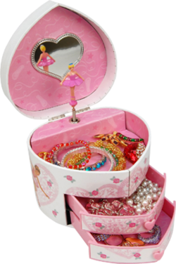 Dora Musical heart shaped jewellery box Jewels Obsession