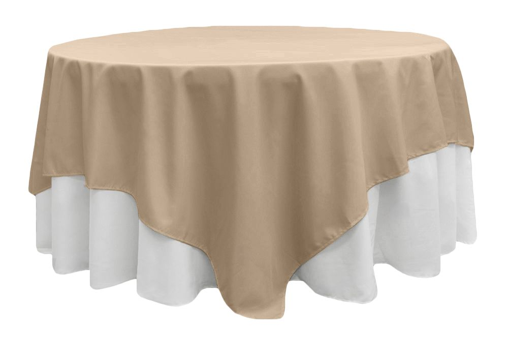 Polyester Square 90 X90 Overlay Tablecloth Black Table Cloth