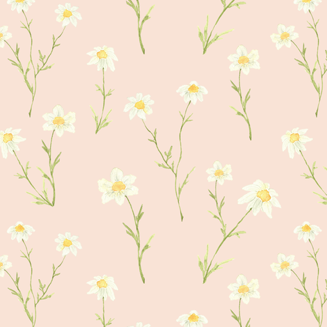 Colorful fabrics digitally printed by Spoonflower - Dainty Daisy Pink