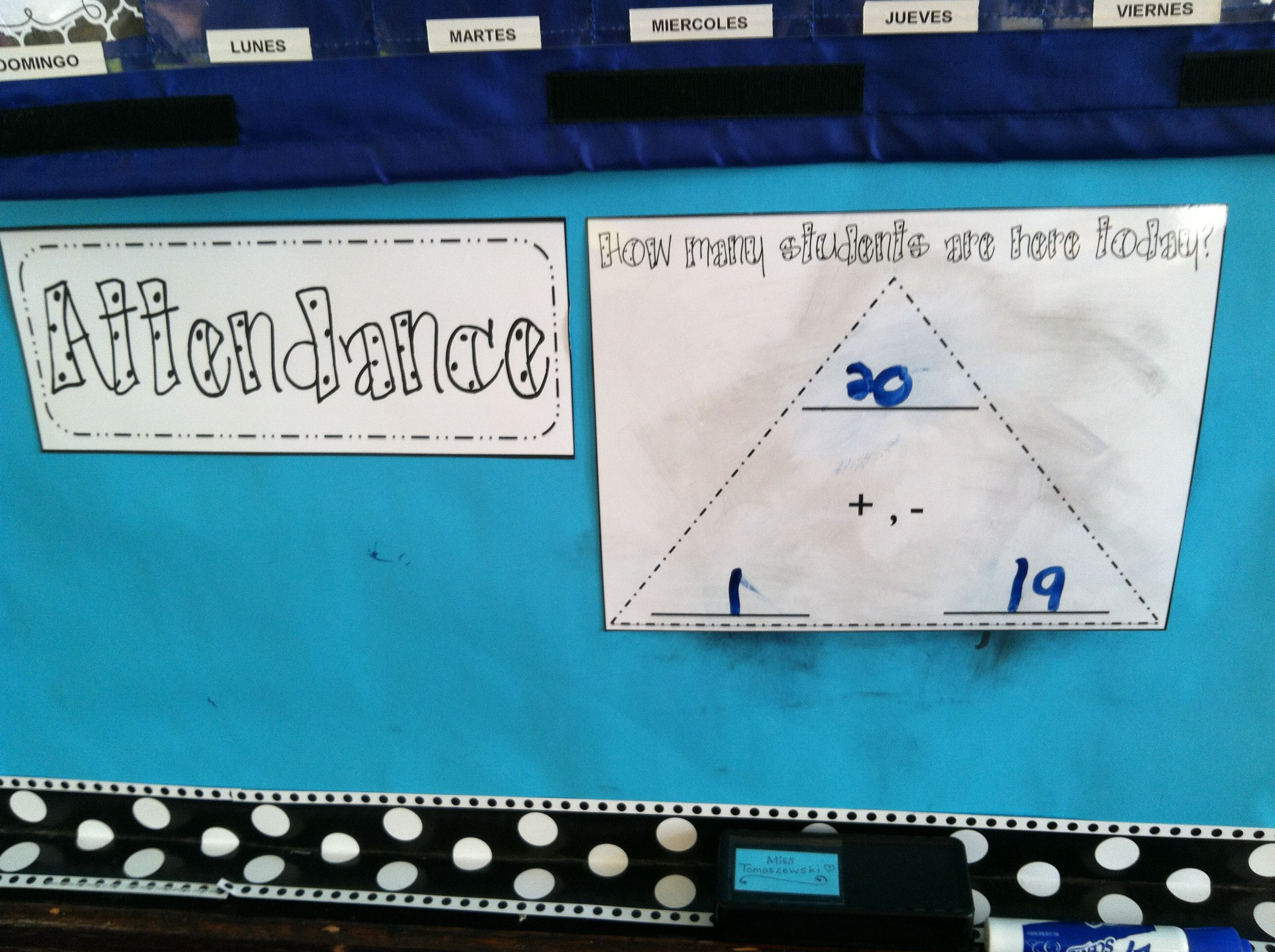 Fact Triangle For Attendance Practice Fact Families