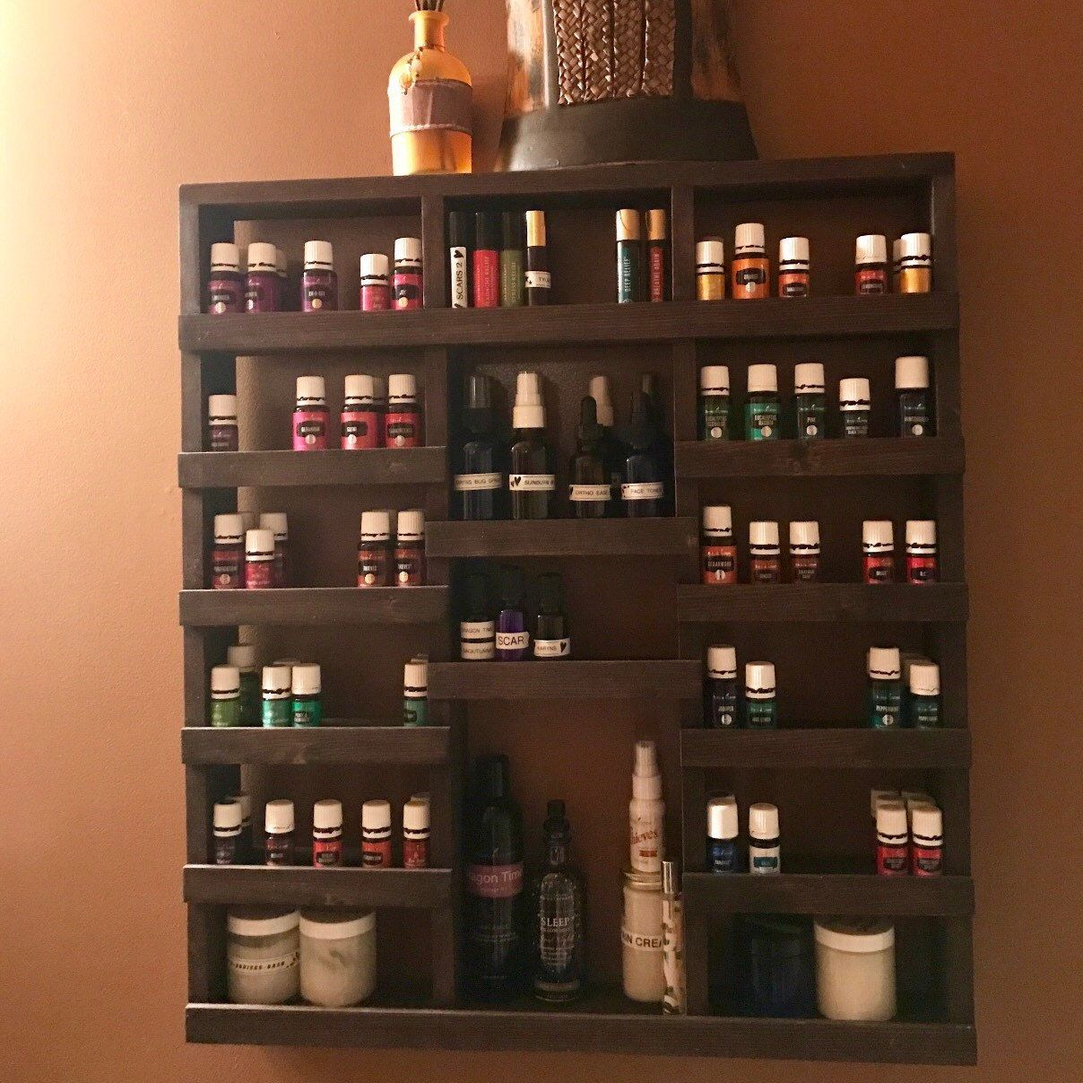 Essential Oil Shelf Essential Oil Storage Nail Polish Rack Wood Shelf Hanging Shelf