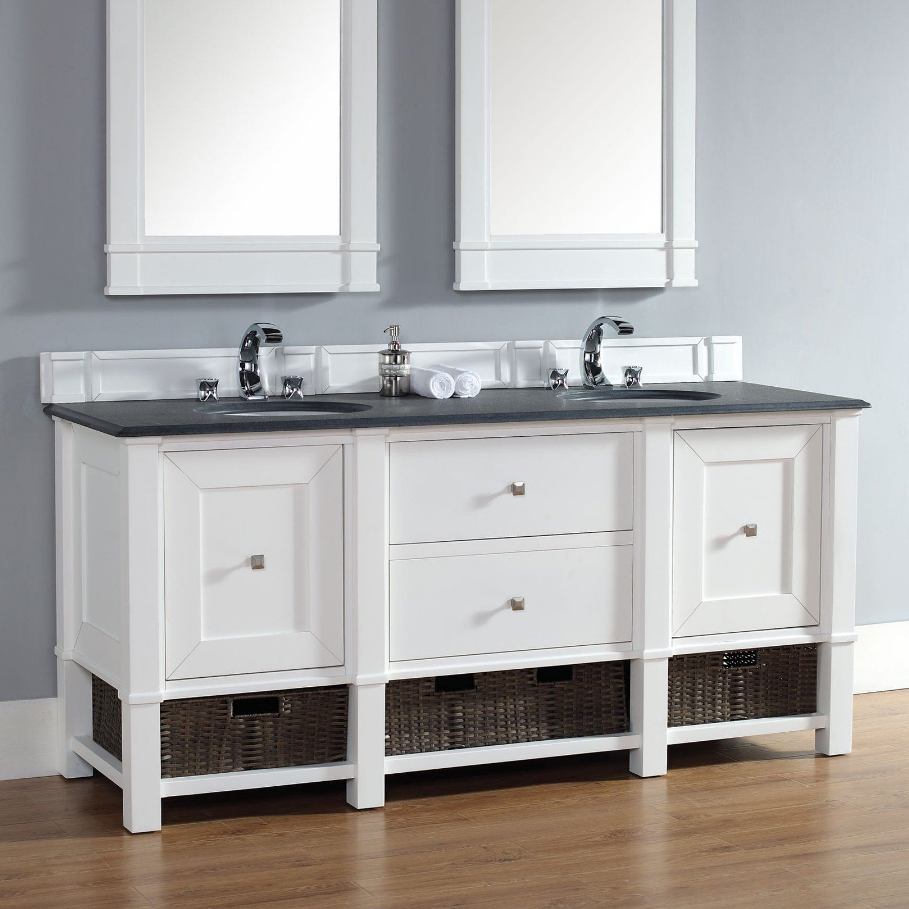 James Martin Madison 72 in. Double Bathroom Vanity - 800-V72-CWH ...