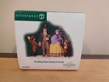 Dept 56 Dickens Village - Strolling Down Howard Street - NIB Rare!!