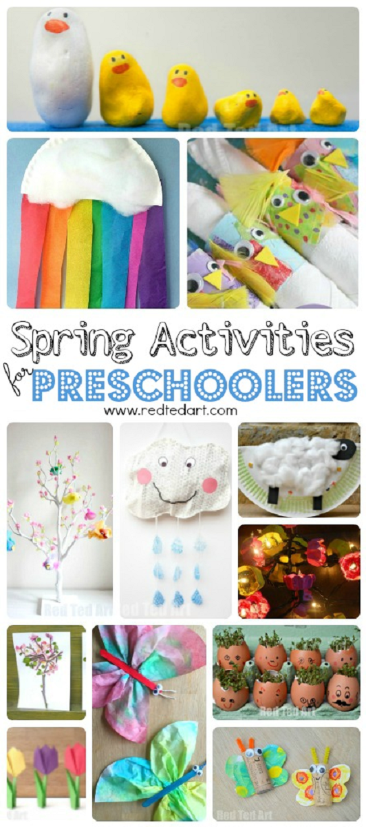 Easy Spring Crafts For Preschoolers And Toddlers Kid Fun