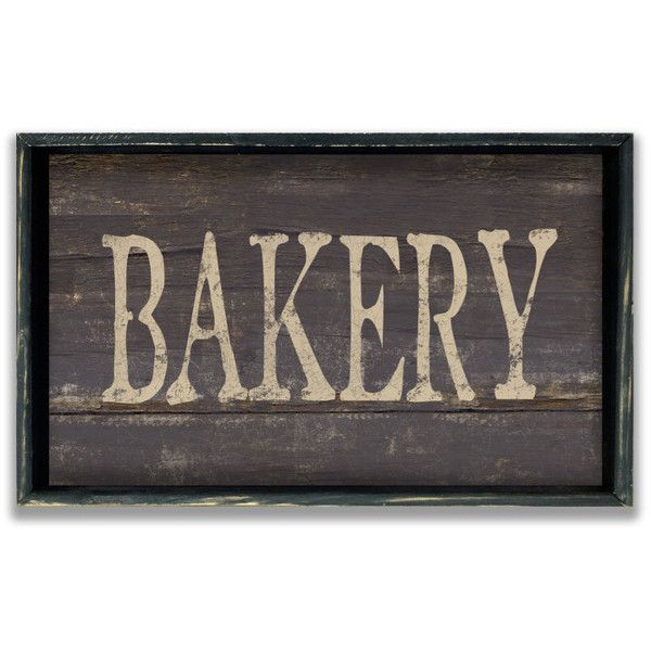 Wooden Handmade Bakery Sign Framed in Wood Business Signs Kitchen