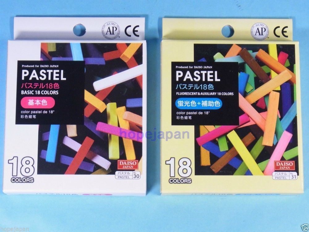 Bold Barrel and Easy to Use,Daiso Japan 18 Colors Crayons