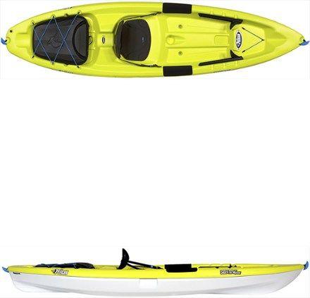 Pelican Sentry 100X Exo Sit On Top Kayak Fade Deep Blue White 10 Ft