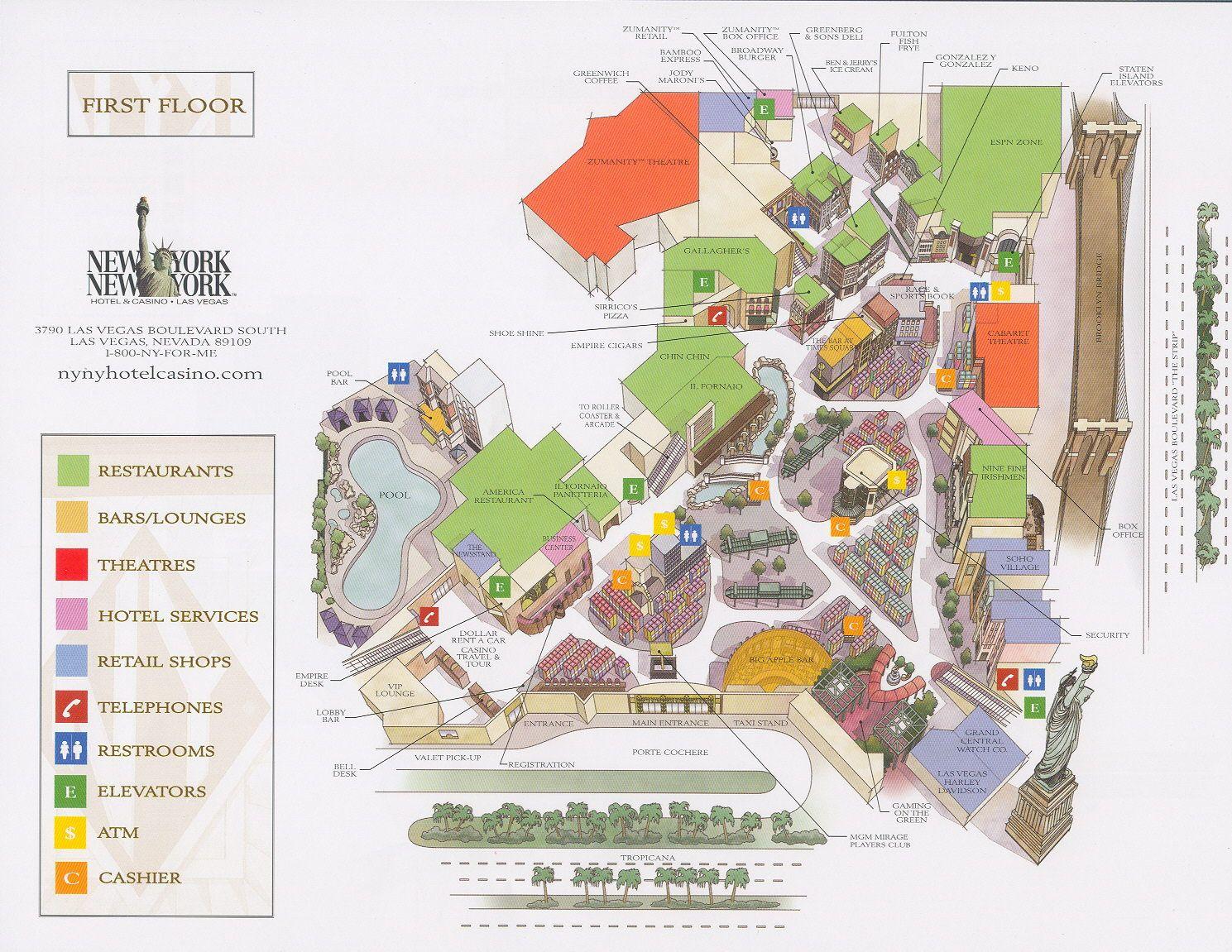 Newyorklasvegasmap Newyorknewyorkmapjpg Las Vegas - Nyc rat map