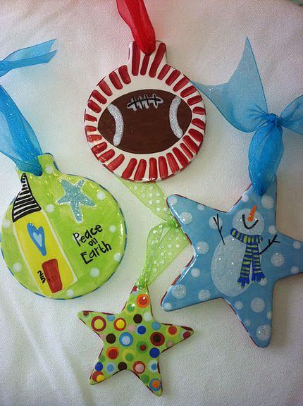 Paint Your Own Pottery Ornaments Pottery Painting Paint Your Own Pottery Ceramics Projects