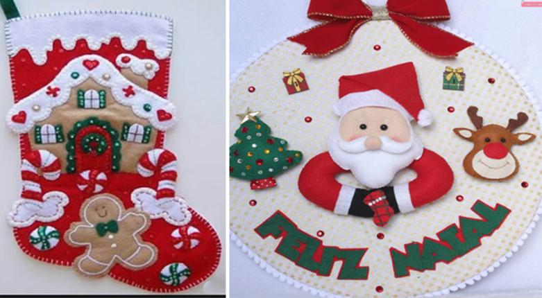 """Bucilla creen en Santa ~ Fieltro Navidad Colgante De Pared Kit # 86189-20 in x 17 /"""""""