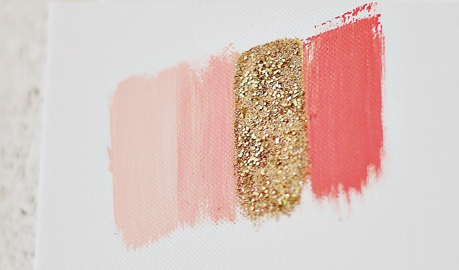 Love this color combination - coral, gold, light pink