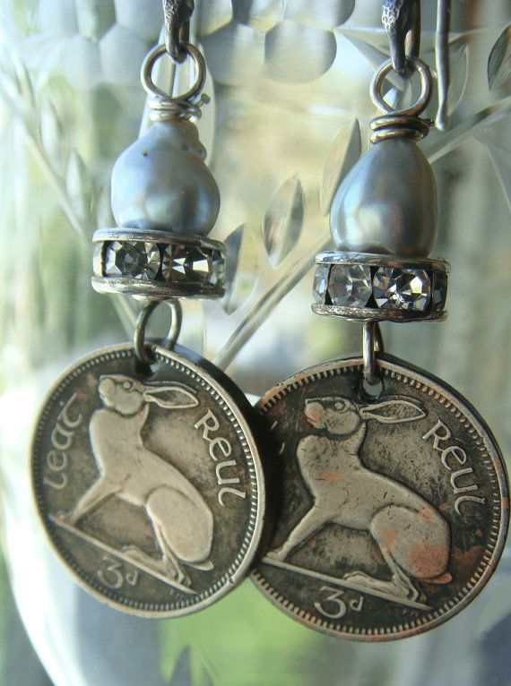 Reconstructed Coin Earrings 1964 Vintage Coins by CobwebPalace