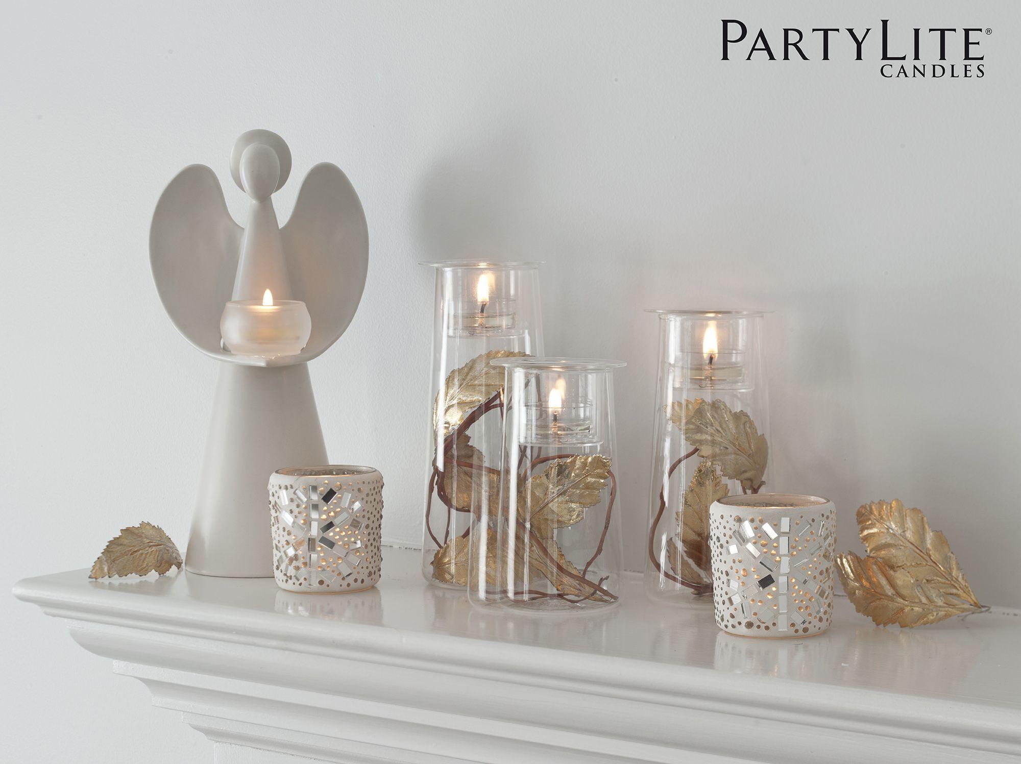 Trio de porte lampions sym trie p91205 en verre trois for Partylite dekoration