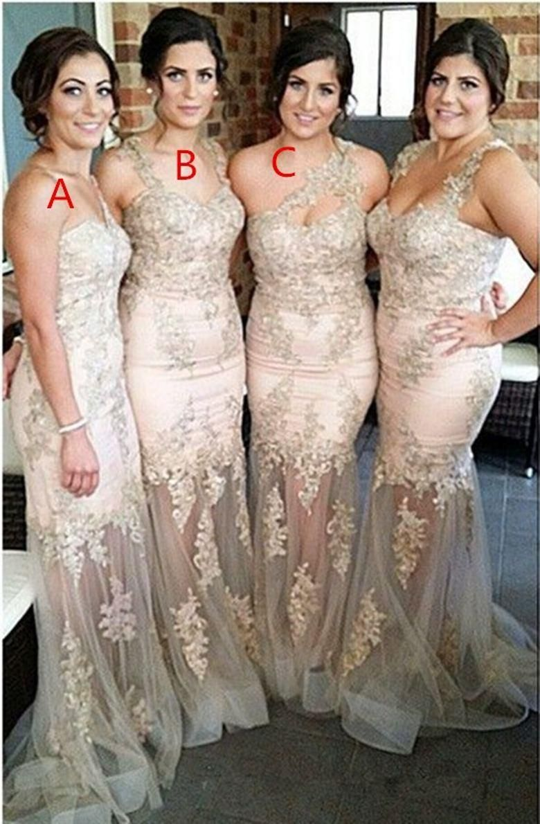 Cheap long bridesmaids dresses sexy mermaid three different designs cheap long bridesmaids dresses sexy mermaid three different designs sheer lace applique beads floor length tulle ombrellifo Images