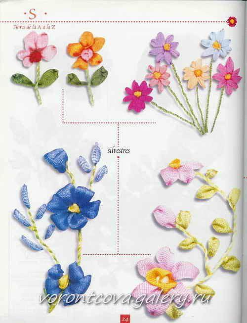 Broderie au ruban ❤ *❤   Ribbon flower   Pinterest   Bordado ...