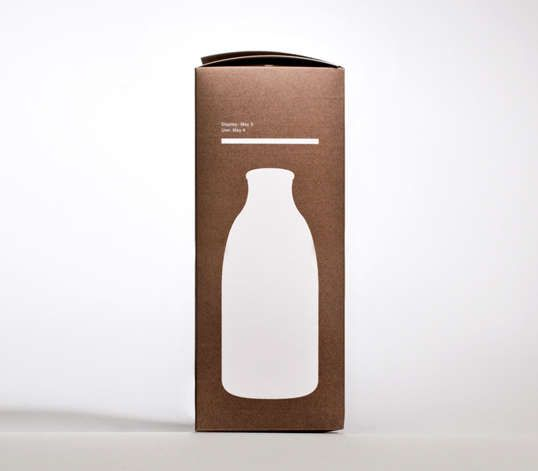 Milk by Darren Custance - 'Milk' by Darren Custance is an incredible set of package concepts aiming to induce thought through its simplistic design.  The cardboard...
