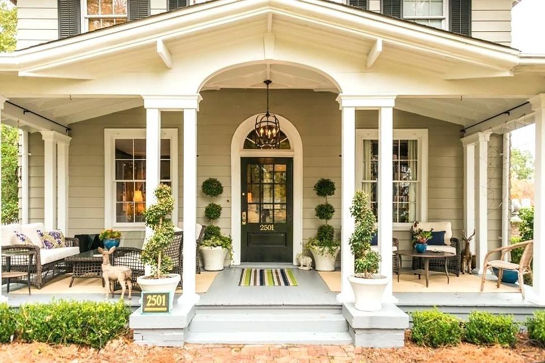 Small House With Covered Front Porch Ideas Goodsgn House Front Porch Front Porch Design Porch Design