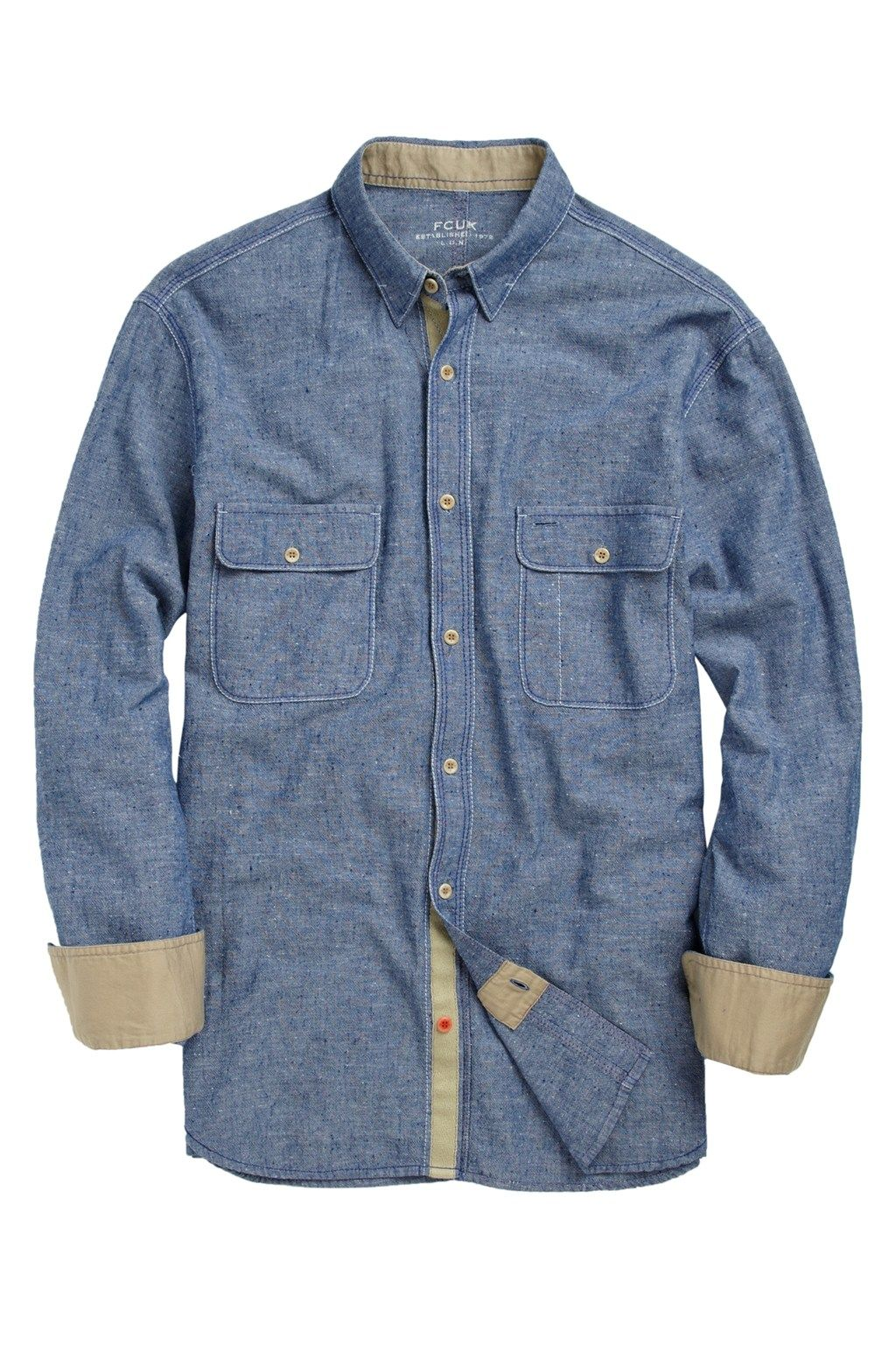 Coolibah Chambray Shirt - Shirts - French Connection Usa