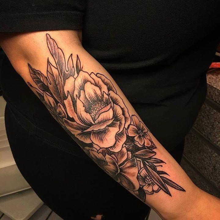 Peonies Tattoo By Scotty From Shotsies Tattoo 20161129 Tattoos