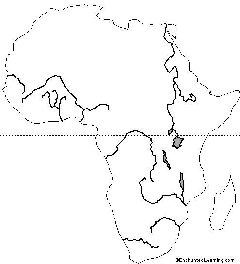 Major Rivers of Africa kids map | HISTORY | Pinterest | Geography