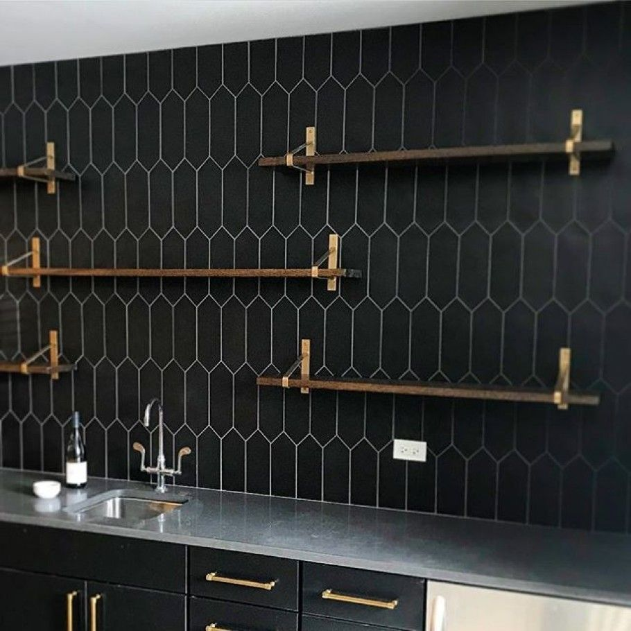 - Aliante Black 4x12 Porcelain Tile In Matte Finish Black Tile