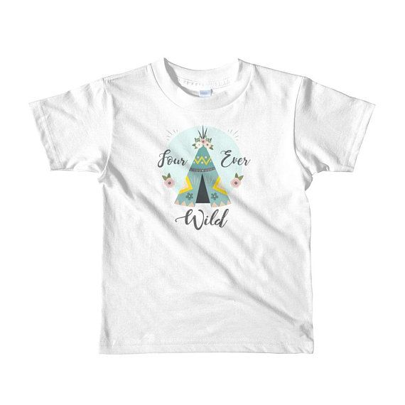 Four Year Old Birthday T Shirt Wild Girl Outfit Ever